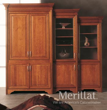 Tall Entertainment Cabinet with Pocket Doors