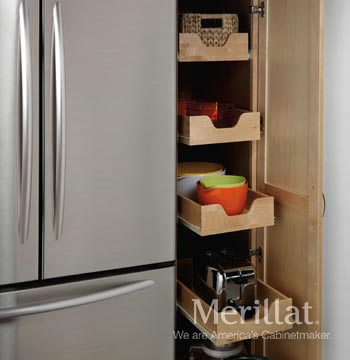 Tall Pantry with Pull-Out Drawers