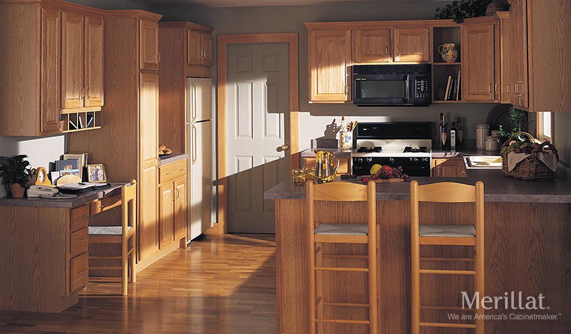 merillat classic seneca ridge in oak natural - Merillat Classic Kitchen Cabinets