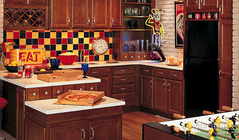 merillat classic spring valley in cherry paprika - Merillat Classic Kitchen Cabinets