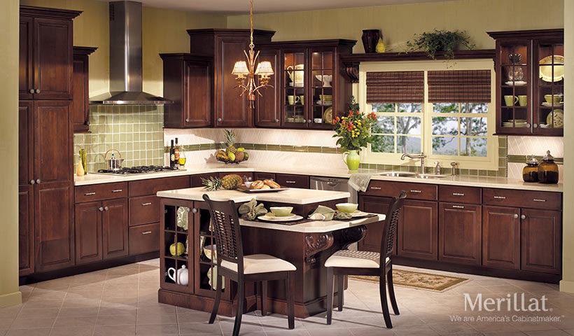 Merillat classic somerton hill in maple sedona merillat for Merillat kitchen cabinets