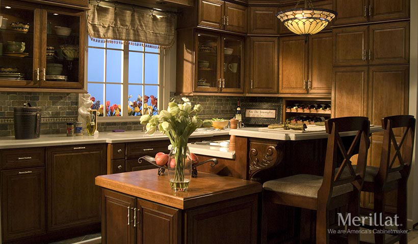 merillat classic labelle in cherry cider with java glaze - Merillat Classic Kitchen Cabinets