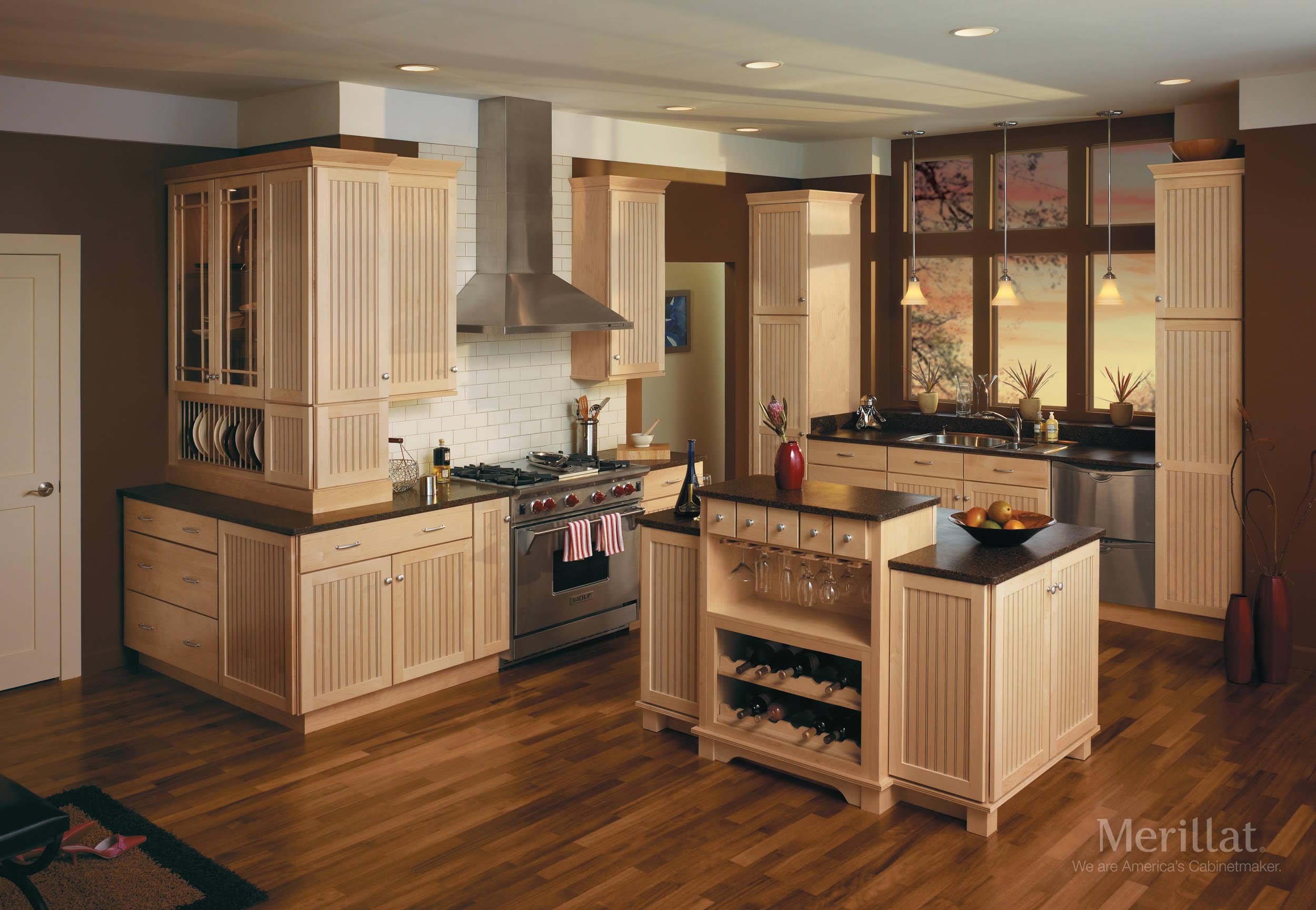 Merillat Kitchen Cabinet Doors Merillat Classicar Avenue In Maple Natural Merillat