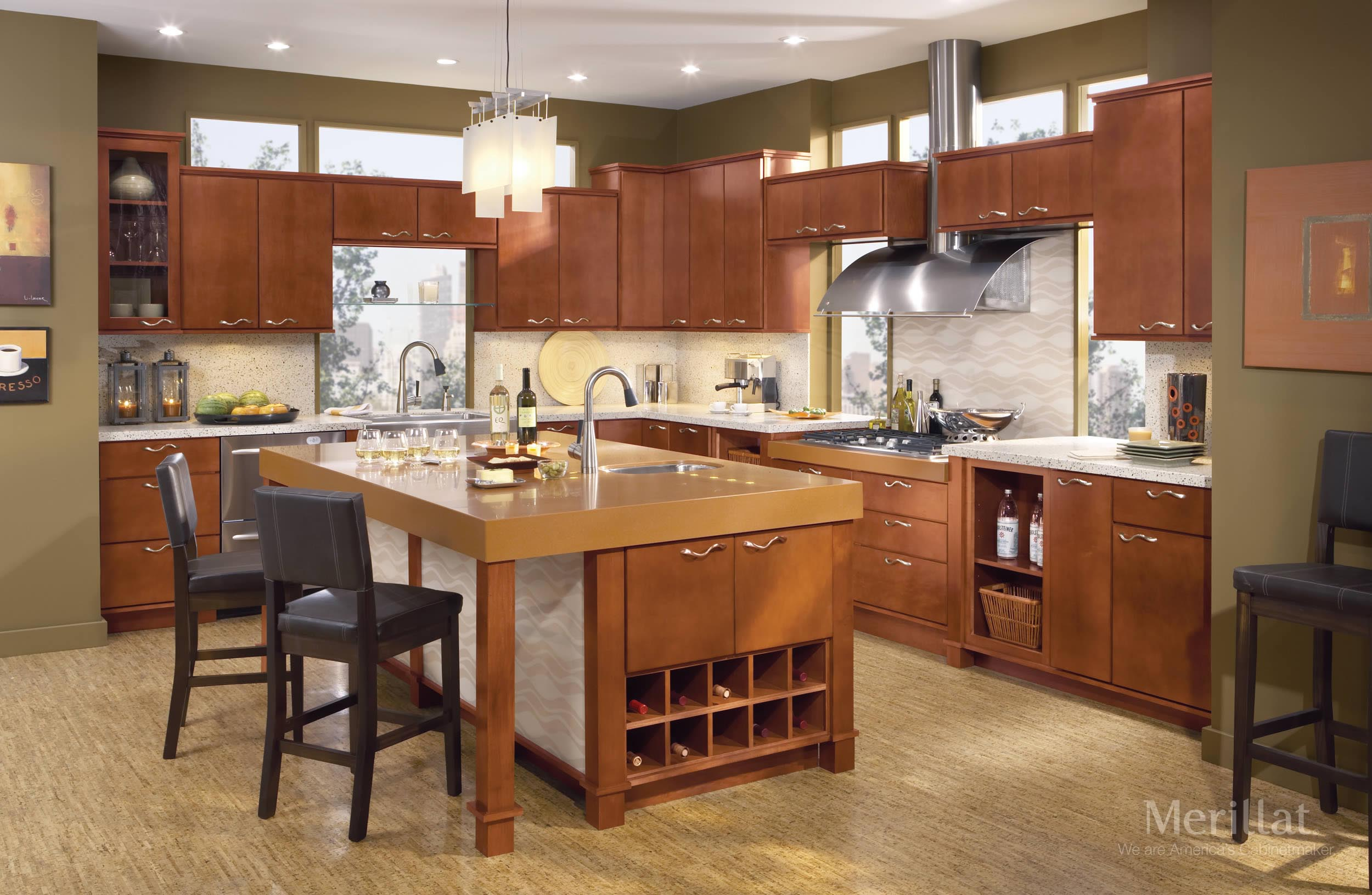 merillat classic fusion in maple sable merillat - Merillat Classic Kitchen Cabinets