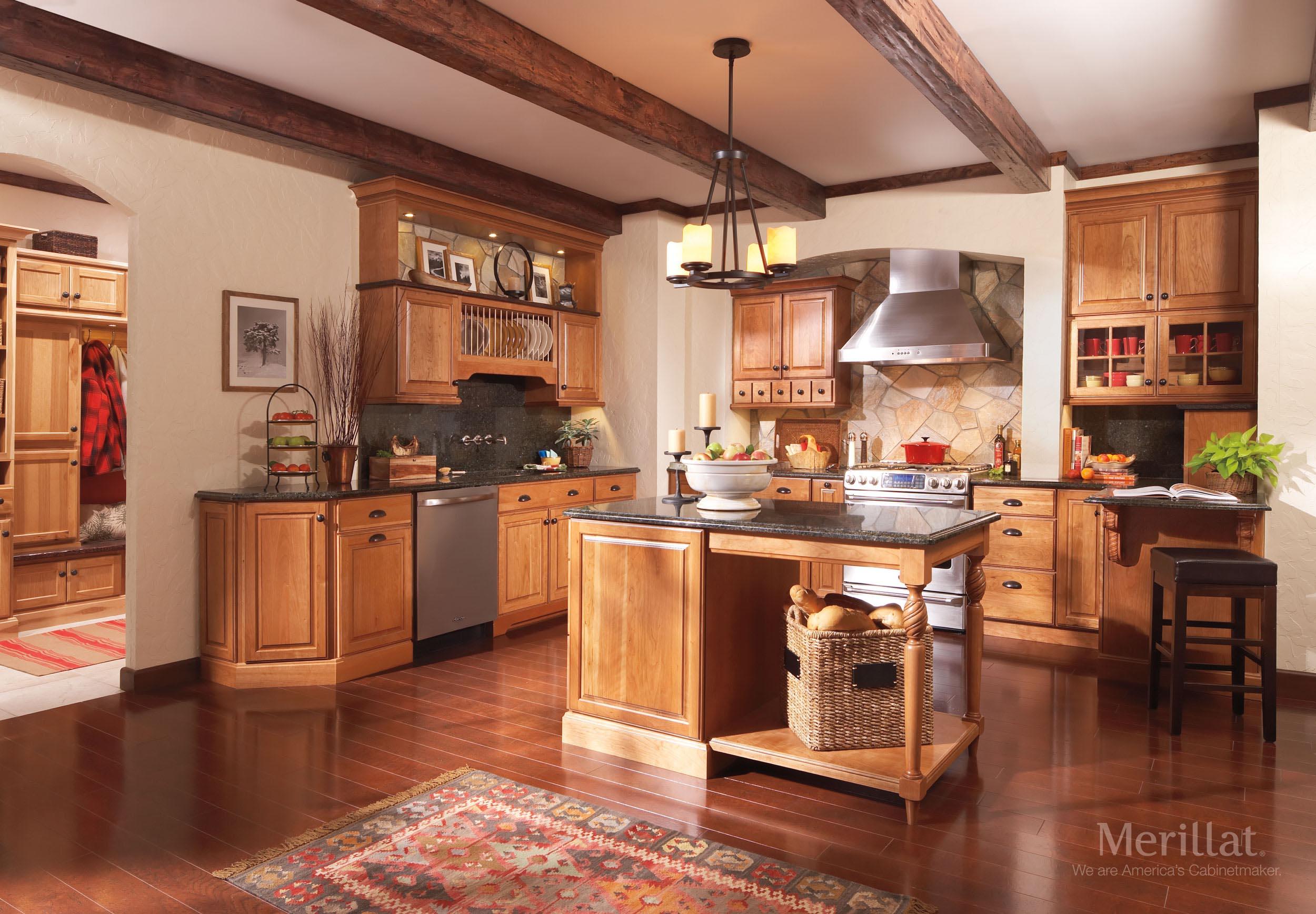 merillat classic somerton hill in cherry amaretto with java glaze 1 merillat - Merillat Classic Kitchen Cabinets