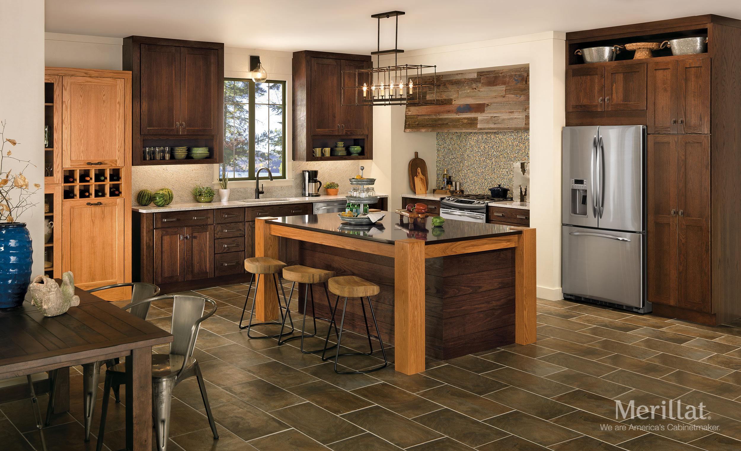 Merillat Kitchen Cabinets Merillat Classicr Tolani In Oak Pecan Merillat
