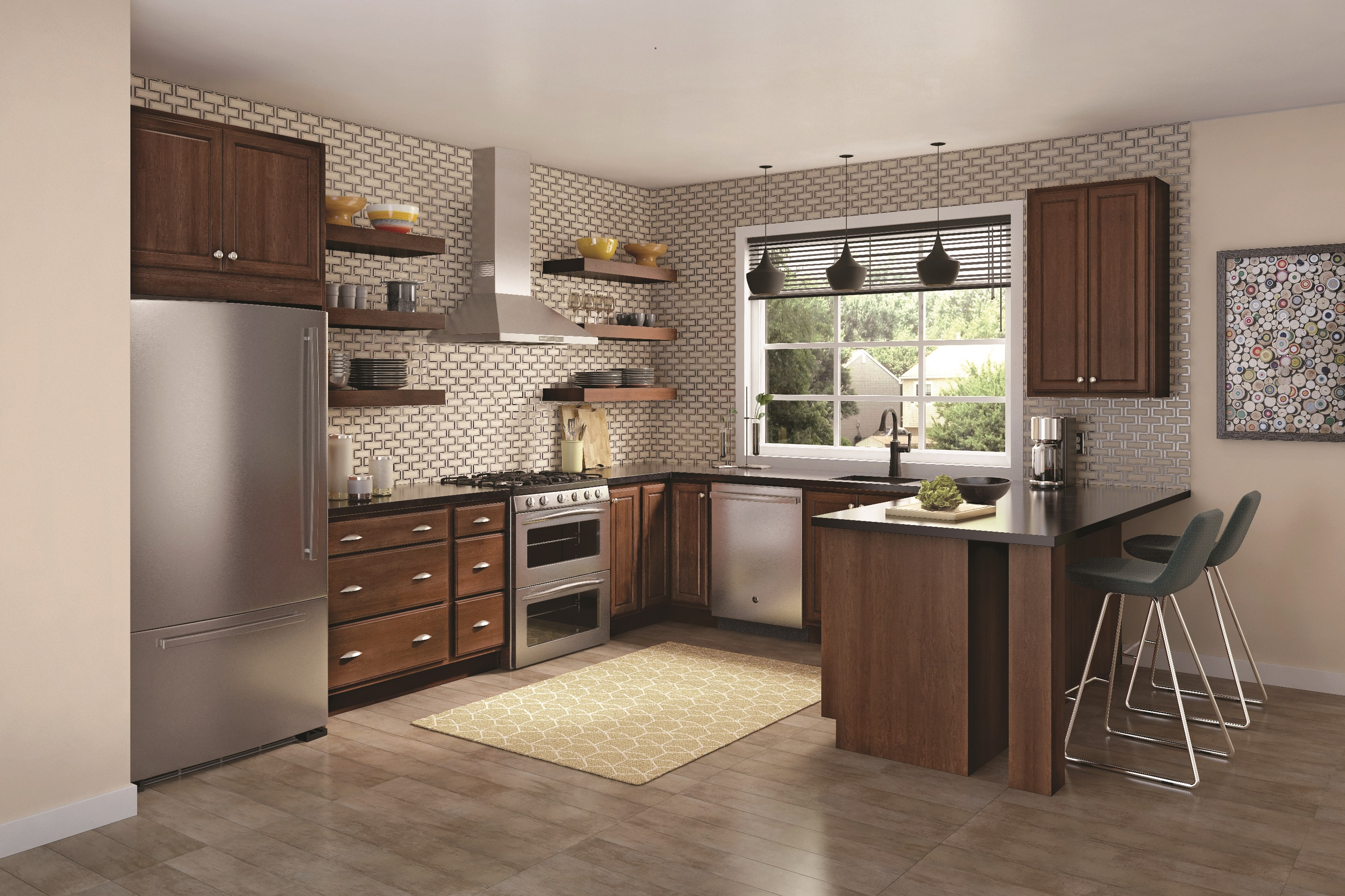 merillat classic seneca ridge in maple pecan - Merillat Classic Kitchen Cabinets