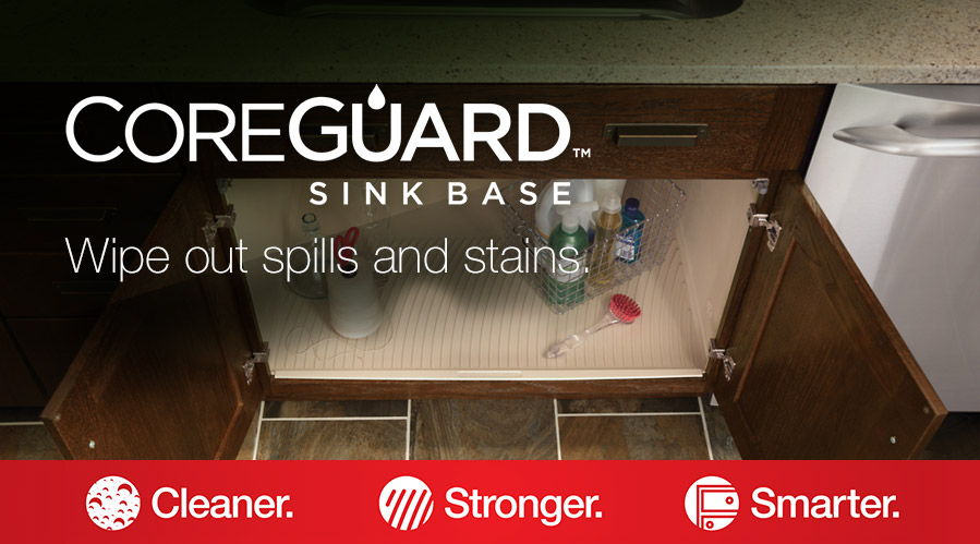 CoreGuard Sink Base - A revolution in under-sink thinking is here. Cleaner. Stronger. Smarter.