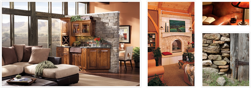 Selection of images representing the Rustic Retreat style.