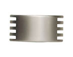 Satin Nickel Serrated Knob