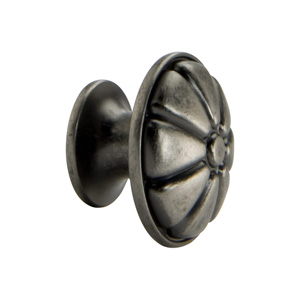 Antique Pewter Flower Knob