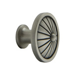 Brushed Satin Pewter French Tassel Round Knob