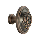 Venetian Bronze Copper French Lace Knob