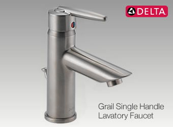 The Grail Single Handle Faucet is an example of the quality faucets available from Delta Faucet