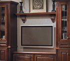 Merillat cabinets organize the entertainment room