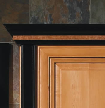 Crown Molding in Maple Onyx Painted Finish