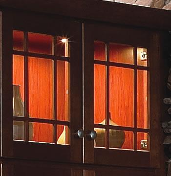 Glass Door Cabinets with Lighting