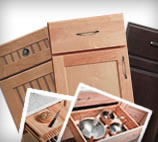 Cabinet doors and storage solutions are two options to choose from in Merillat's Kitchen Planner