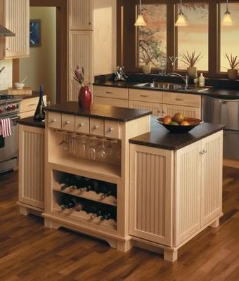 Kitchen helpful tools merillat - Small kitchen island with storage ...