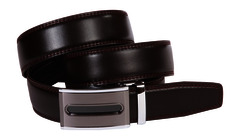 Leather Ratchet Belt - Oval