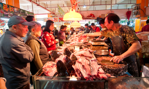 Chinese meat market