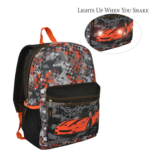 17 inch Trailmaker LED Light-Up School Kids Backpack for Boys
