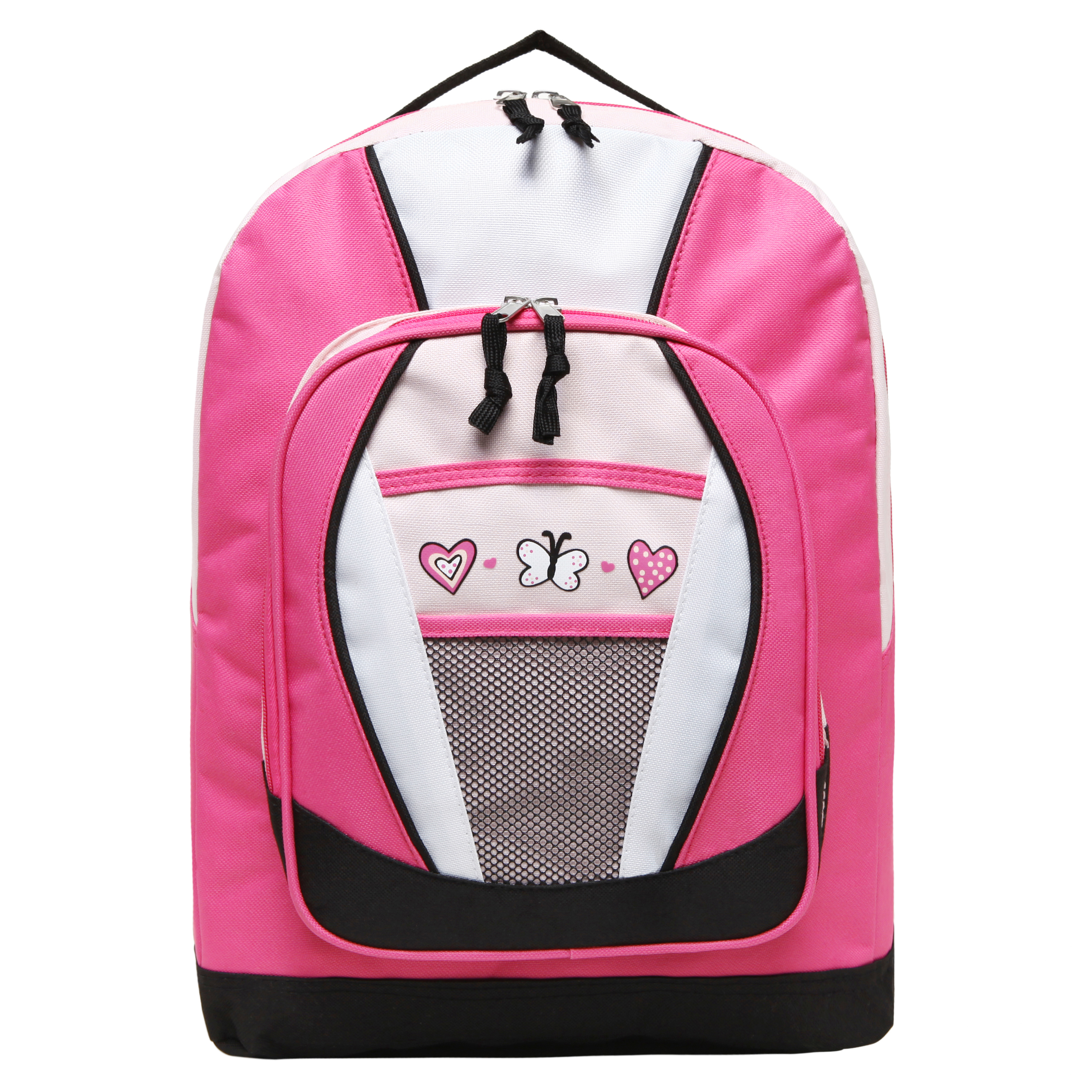 Pink Hearts and Butterflies Backpacks for Girls