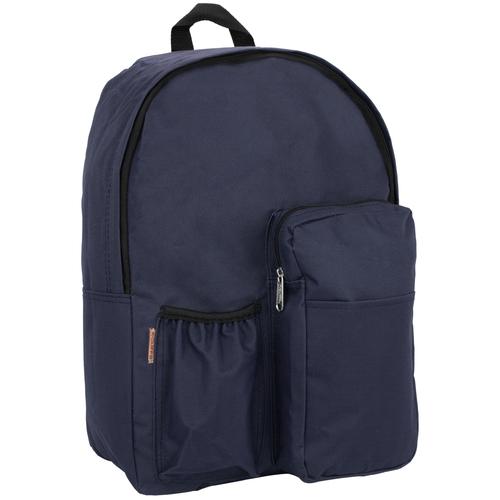 K-Cliffs Wholesale School Book Bag with Water Bottle Pocket - Navy