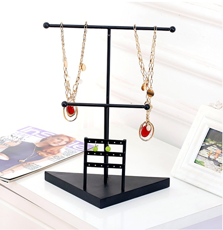Jewelry Tower T Bar Necklace Amp Bracelet Holder Amp Earring