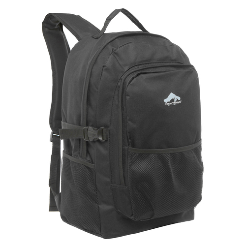 Large 19 inch Multi Compartment Black Book Bag