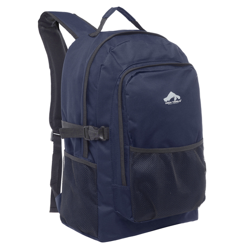 Large 19 inch Multi Compartment Navy Blue Book Bag