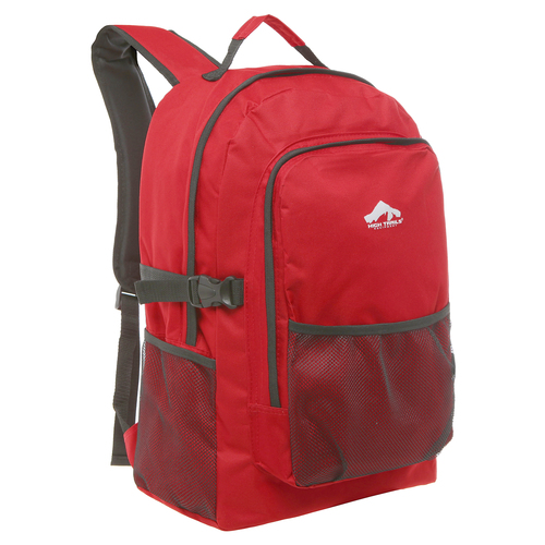 Large 19 inch Multi Compartment Red Book Bag