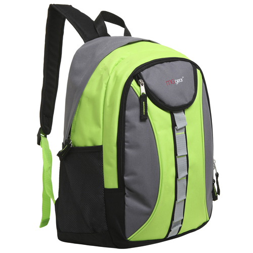 MGgear 18 inch Designer Daisy Chain Style Wholesale Book Bags, Green