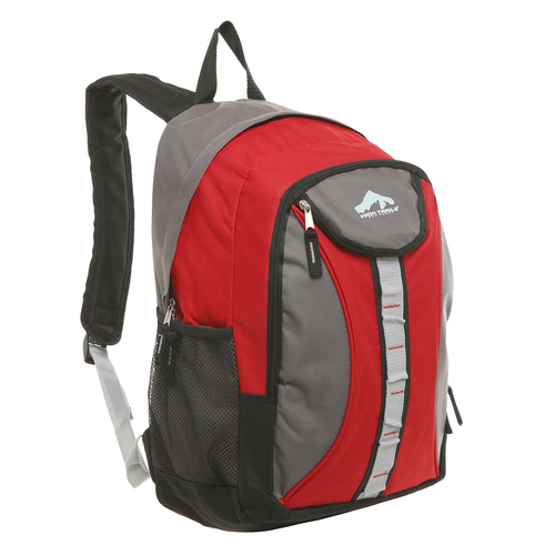 18 inch Oversize Red High School Student Backpack