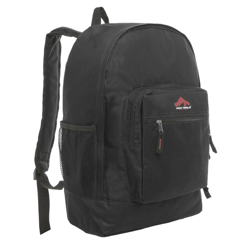 Classic Multi-Compartment 17.5 inch Kids Backpack - Black