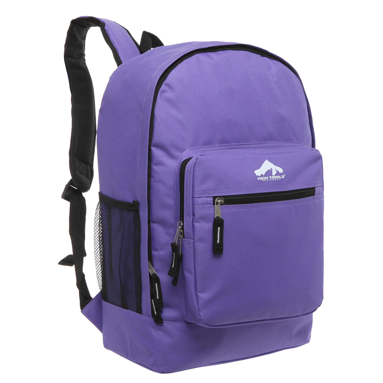 Classic Multi-Compartment 17.5 inch Kids Backpack - Purple
