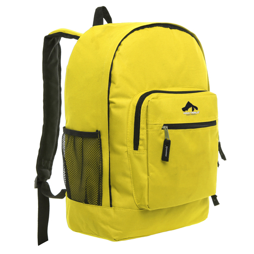 Classic Multi-Compartment 17.5 inch Kids Backpack - Yellow