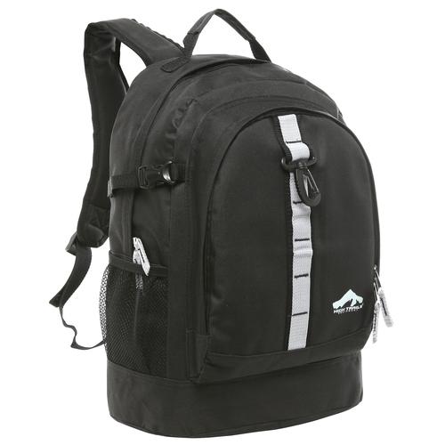 Oversized Daisy Chain High School Backpack - Black
