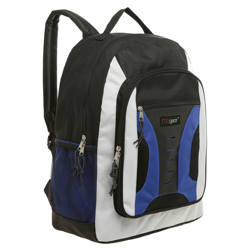 MGgear 16.5 inch Mid-Size Cool Backpack For Kids, Bulk Case of Blue