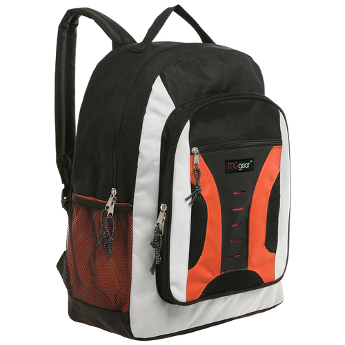 MGgear 16.5 inch Mid-Size Cool Backpack For Kids, Bulk Case of Orange
