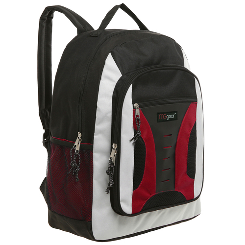 MGgear 16.5 inch Mid-Size Cool Backpack For Kids, Bulk Case of Red