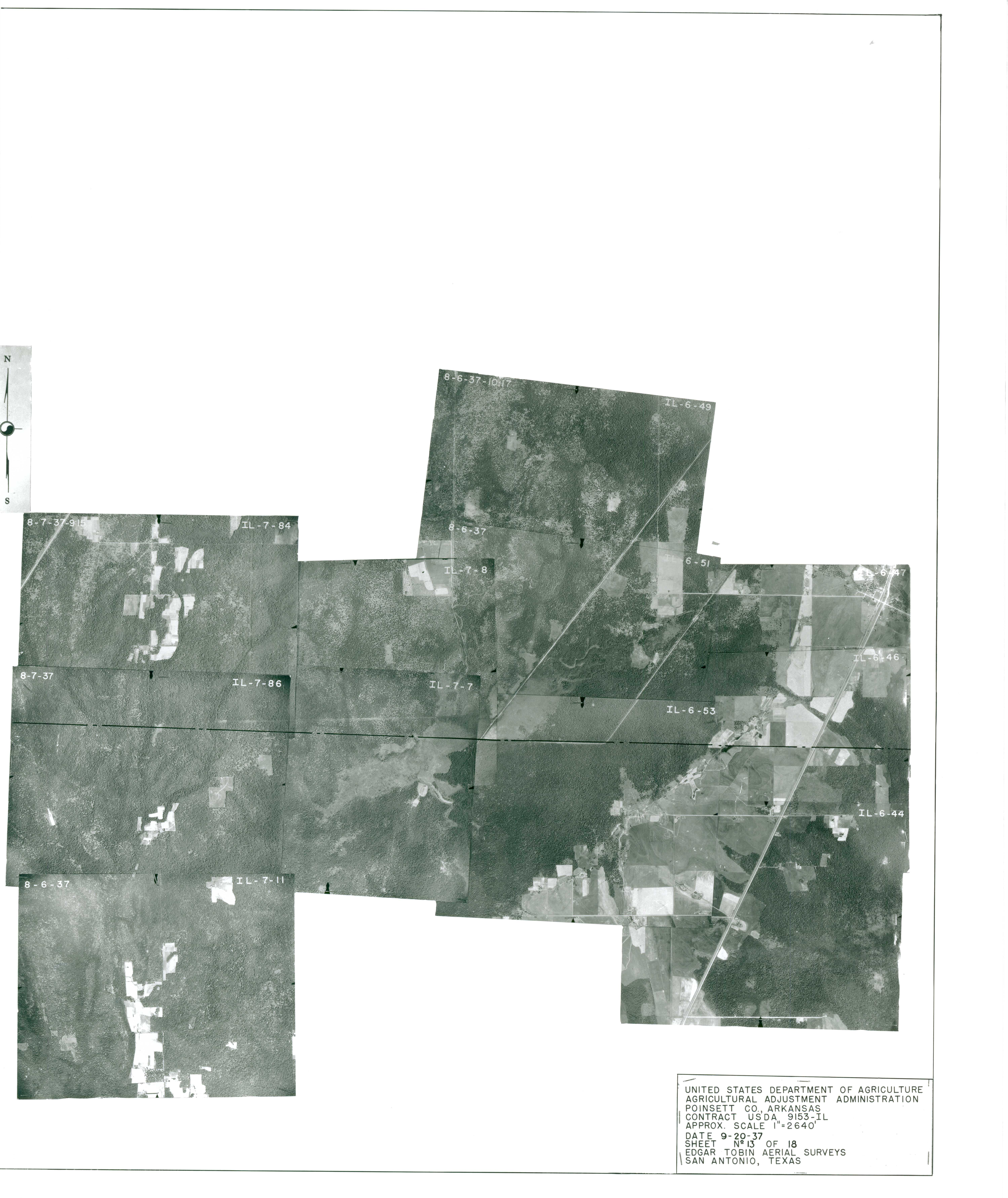 Index to Aerial Photography of Poinsett County, Arkansas 13