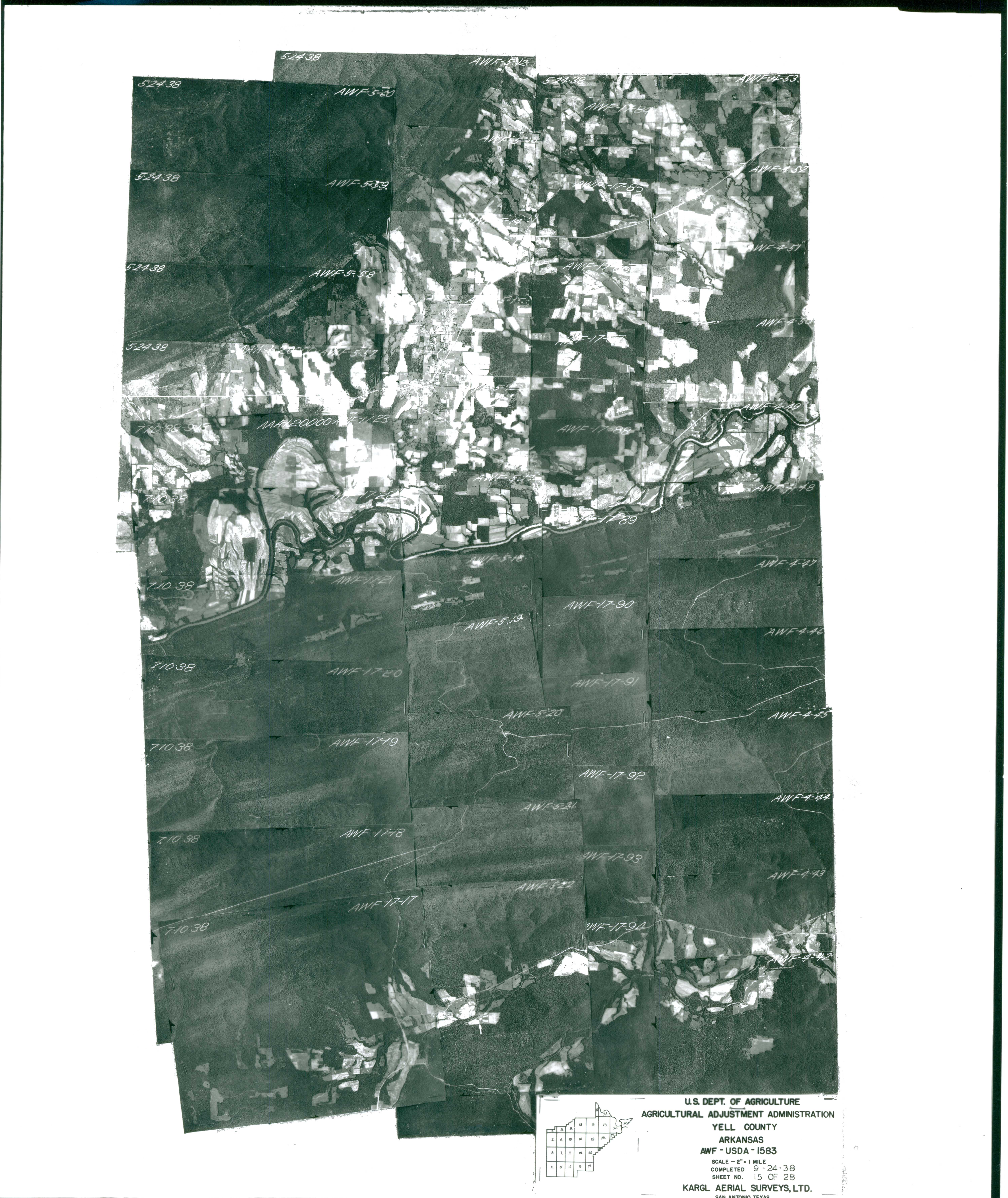 Index to Aerial Photography of Yell County, Arkansas 15