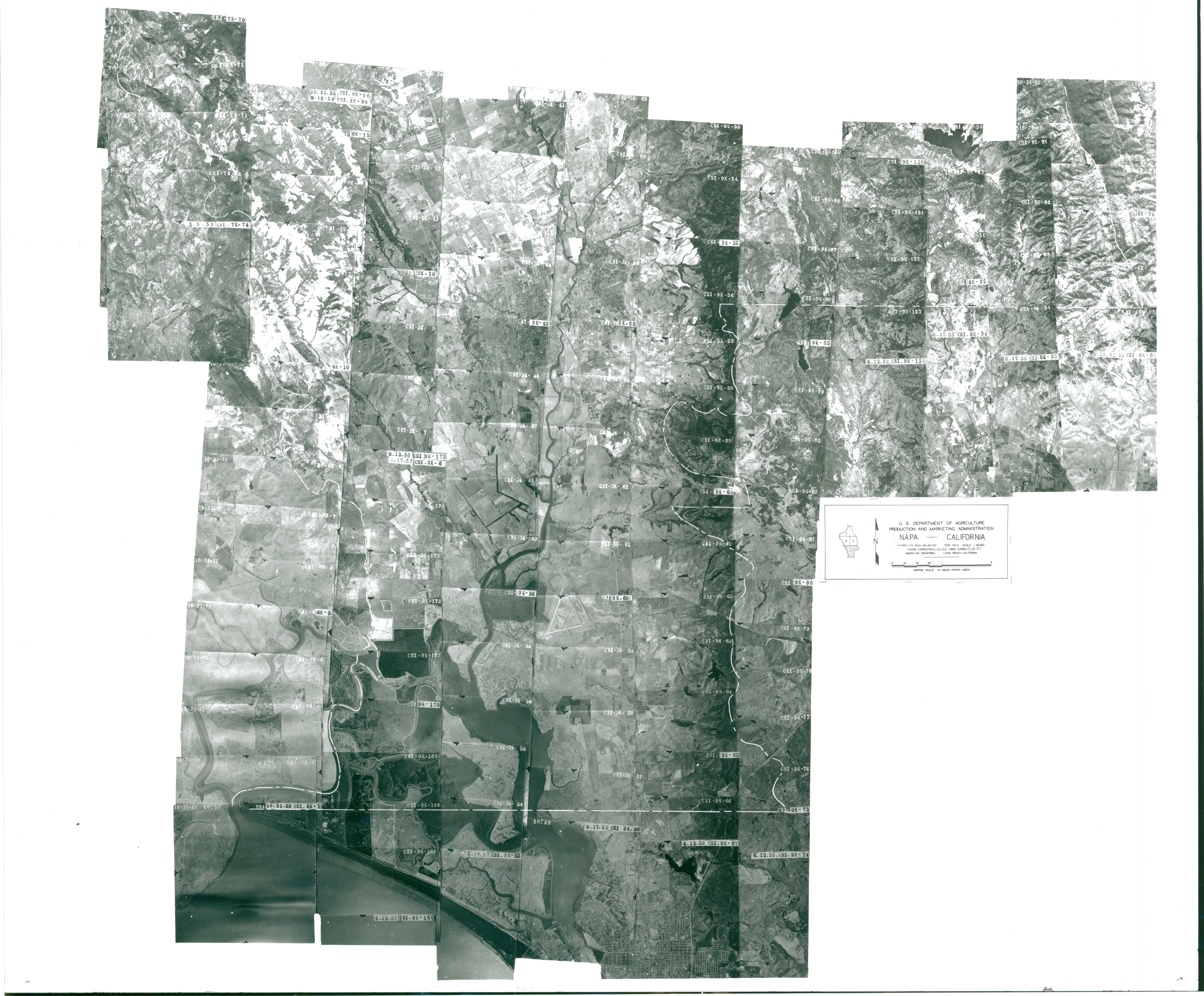 Aerial Photography Index for Napa County, California, Sheet 5