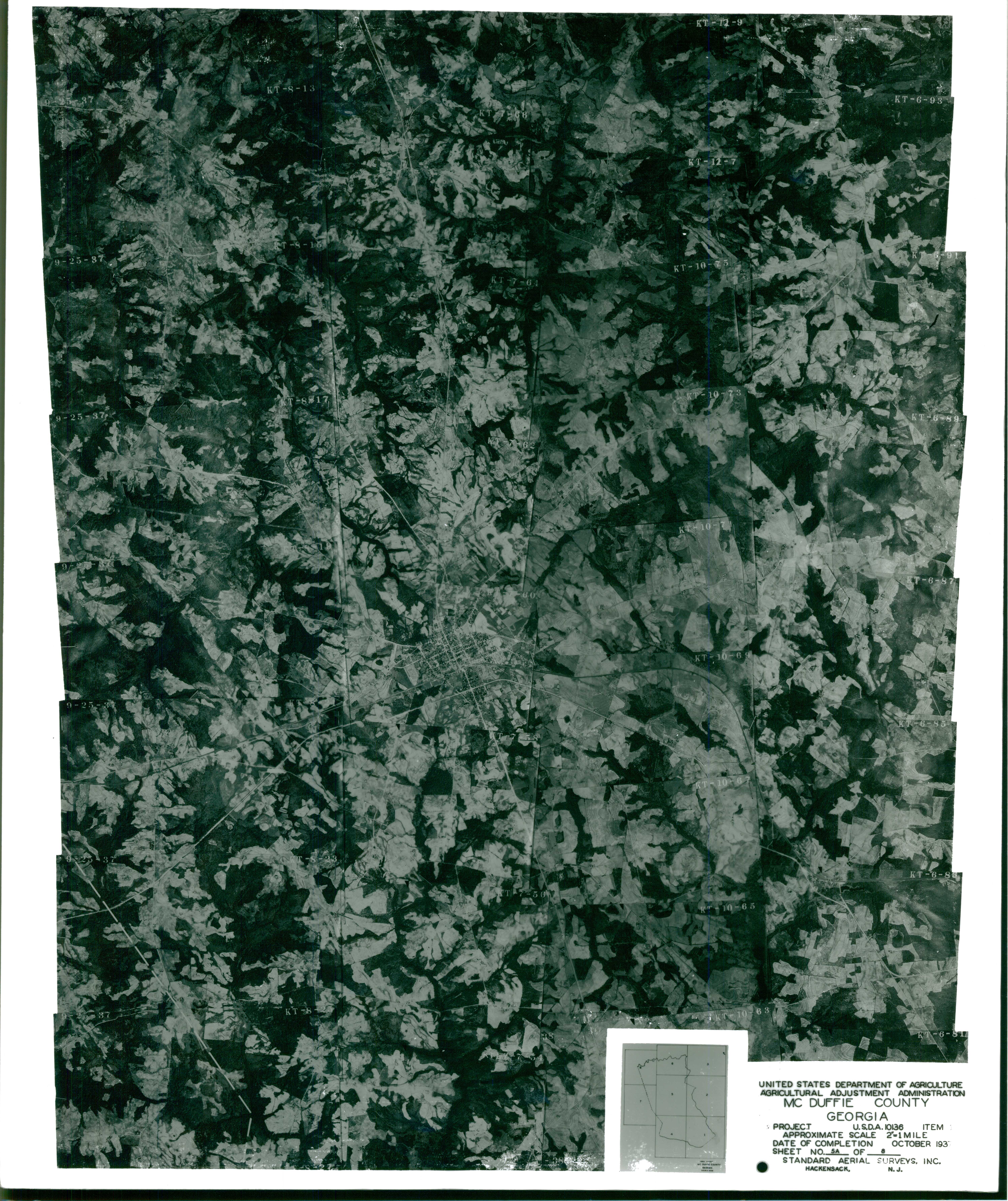 Aerial Photography Index for McDuffie County, Georgia, Sheet 5