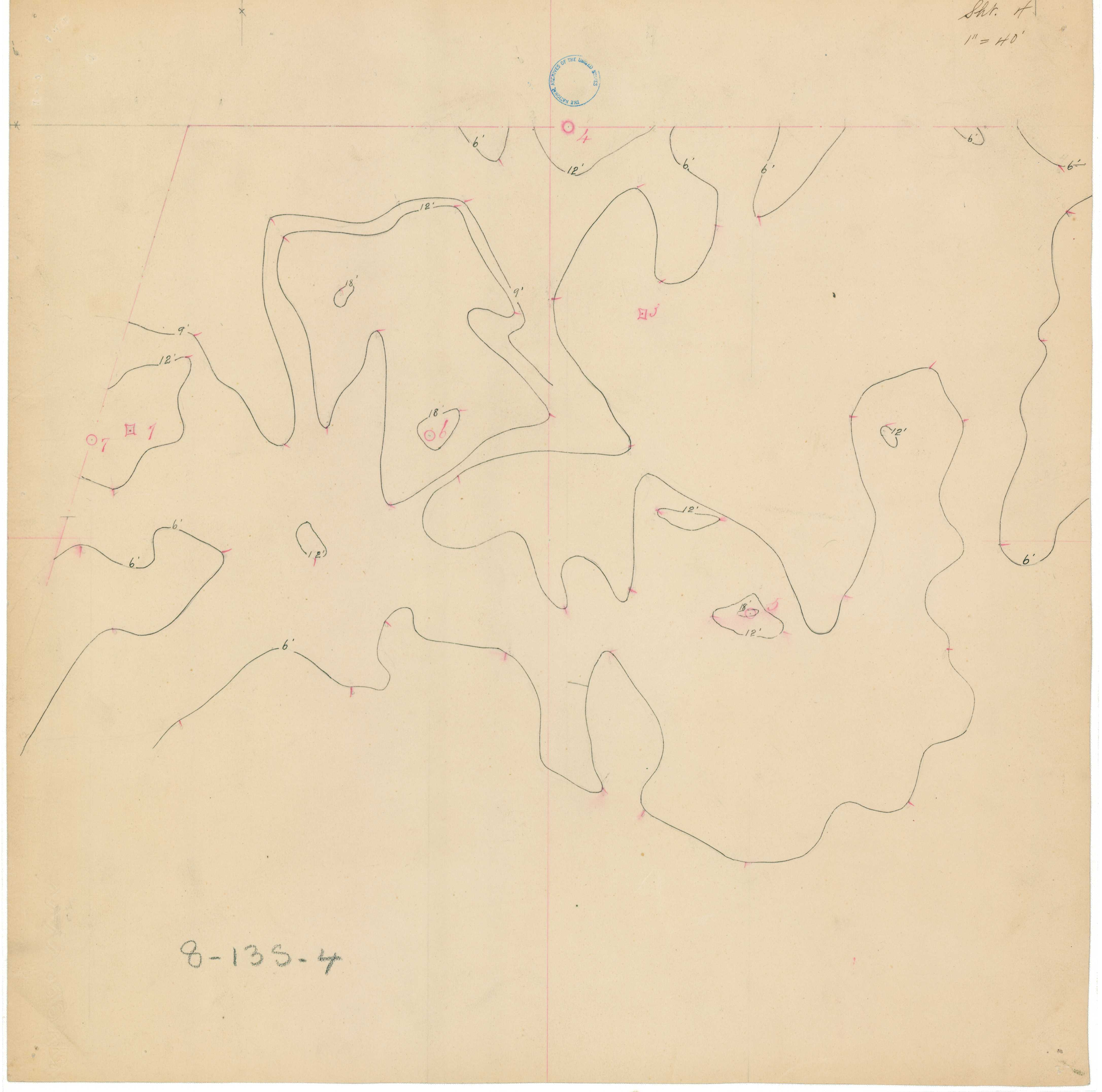 Topographical Survey Map, Light Station 4