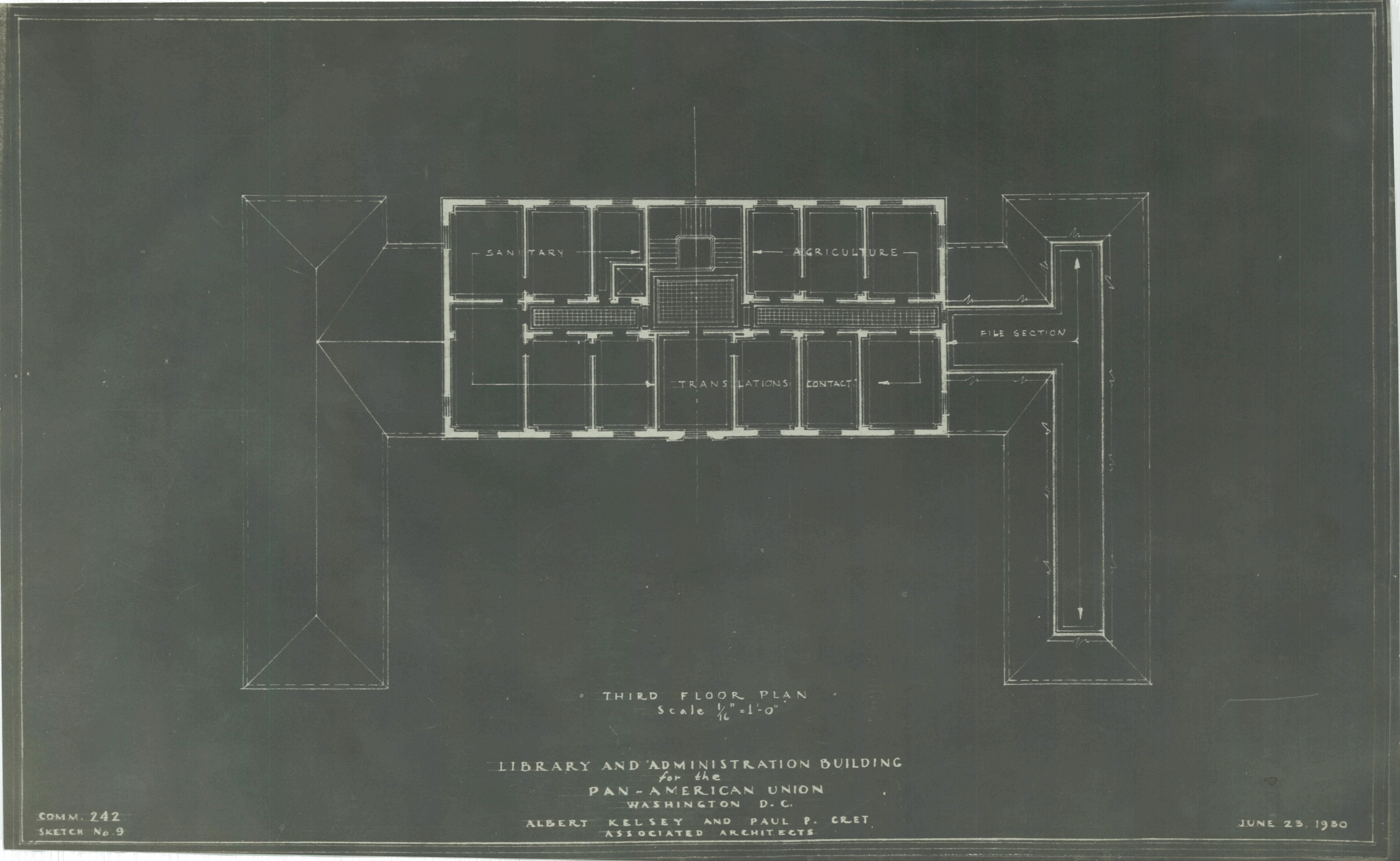 Pan-American Union Third Floor Plan