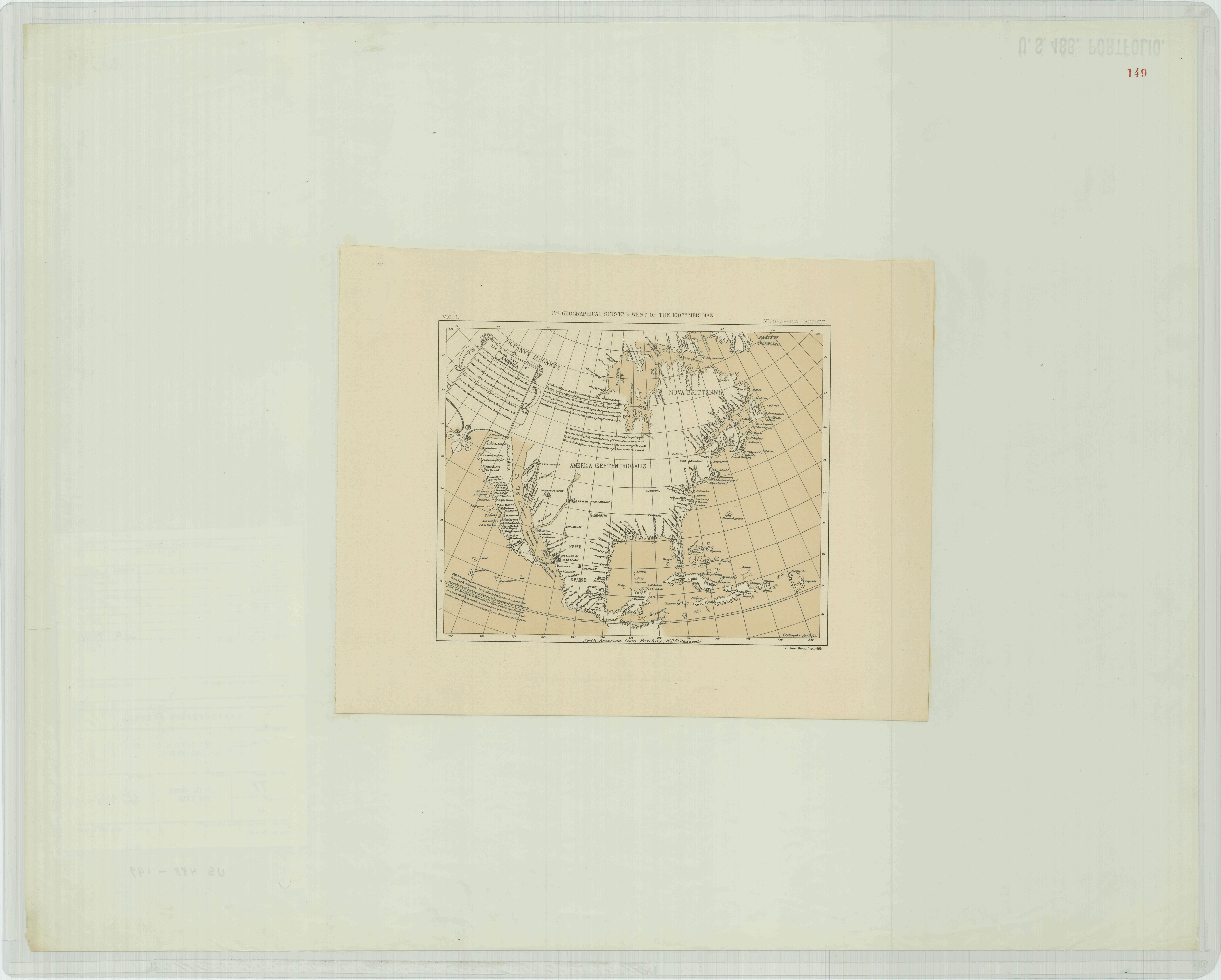 North America from Purchas 1692