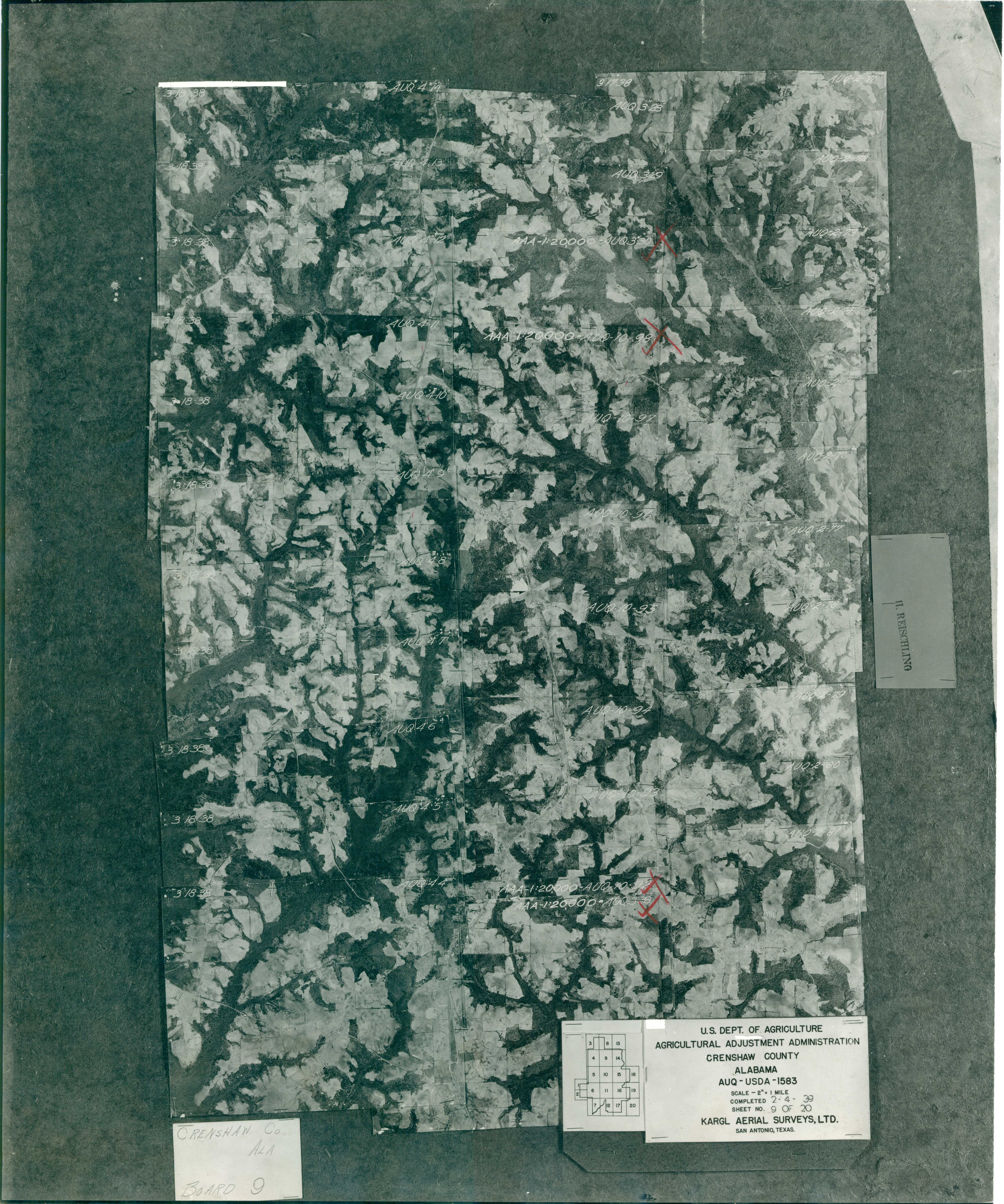 Aerial Photography Index for Crenshaw County, Alabama, Sheet 9