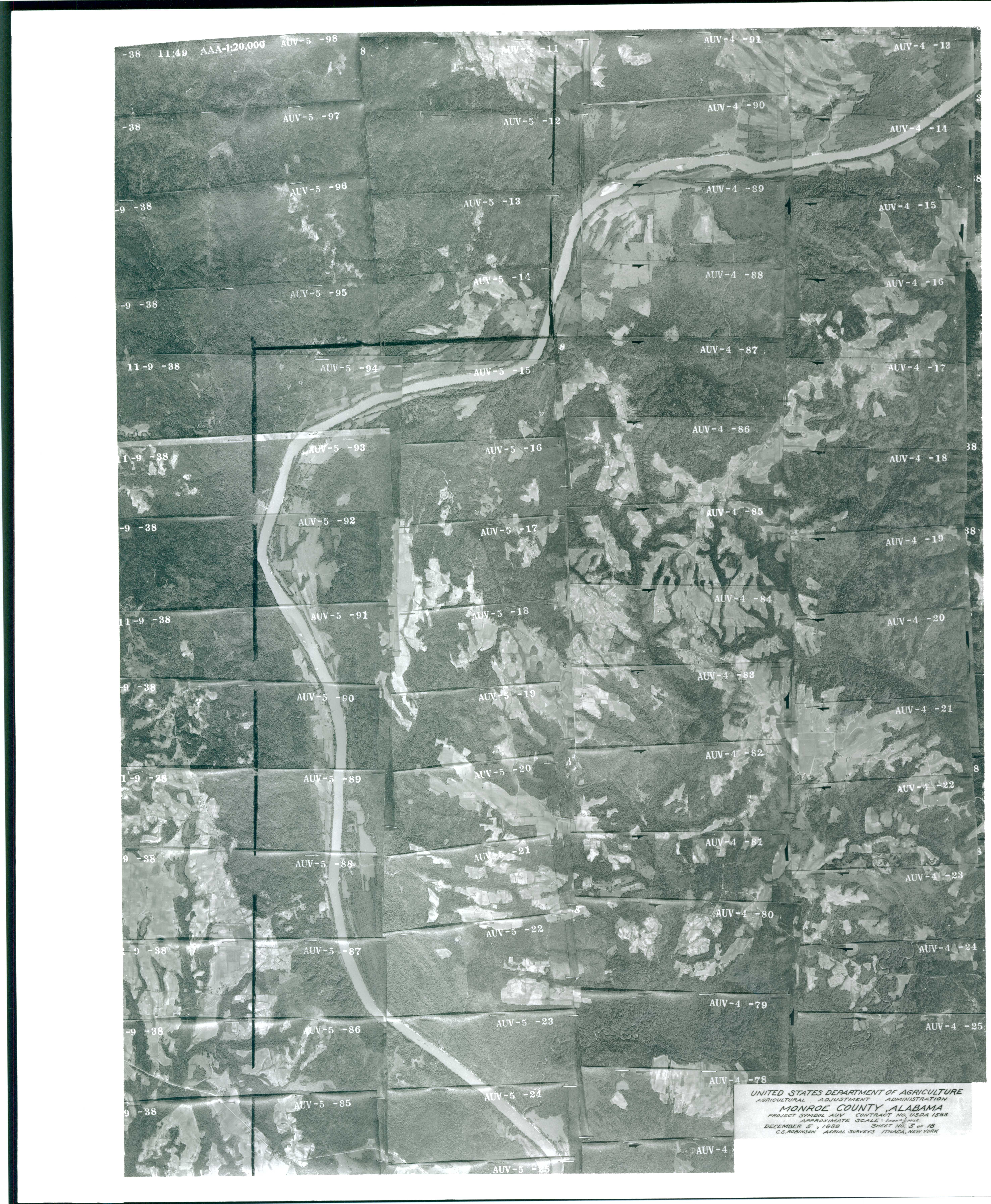 Aerial Photography Index for Monroe County, Alabama, Sheet 5